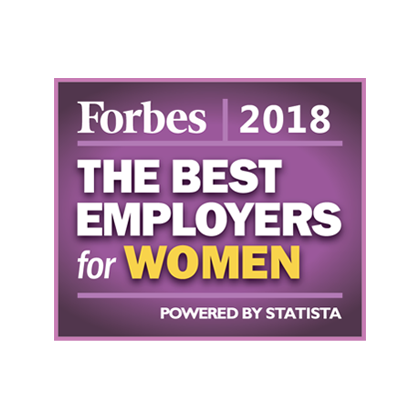 Forbes 2018 The best employers for women award