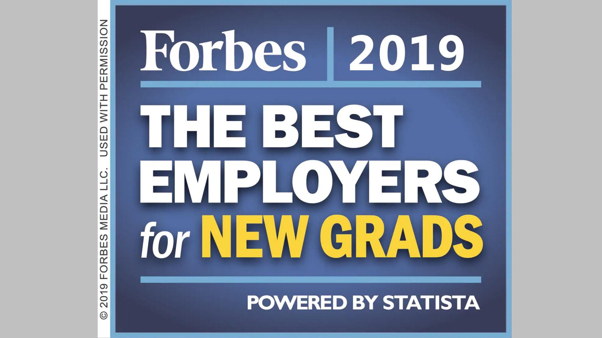 Forbes New Graduates Award Image