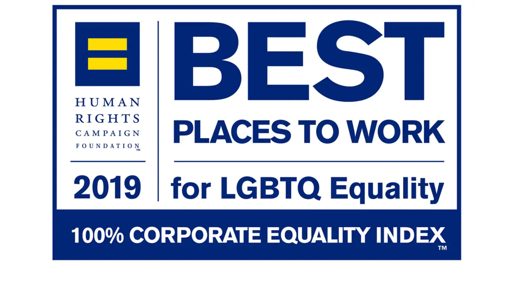 Best places to work for LGBTQ equality award logo