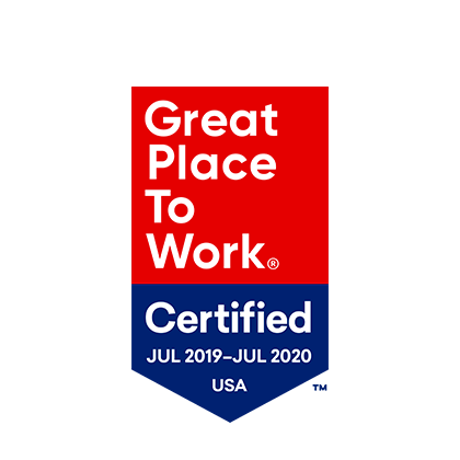 Great Place to Work Certified July 2019 - July 2020