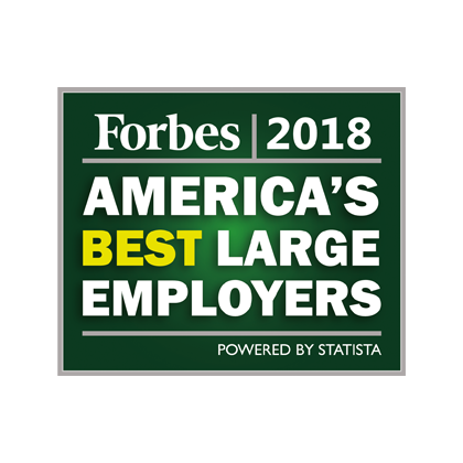 Forbes 2018 America's best large employers award