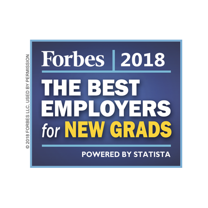 Forbes 2018 - The best employers for new grads award