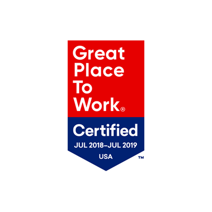 Great place to work certified July 2018 - July 2019