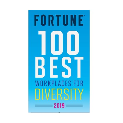 Fortune 2019 Best Workplaces for Diveristy badge