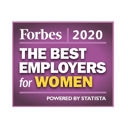 Forbes 2020 Best Employers for Women Badge