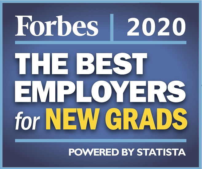 Forbes 2020 New Grad badge