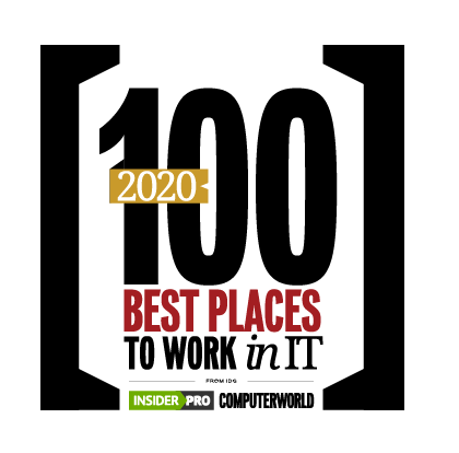 Computerworld Best Places to Work in IT 2020 badge