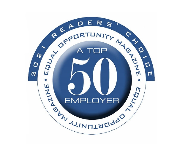 Top 50 Employer of 2021 named by Equal Opportunity Magazine