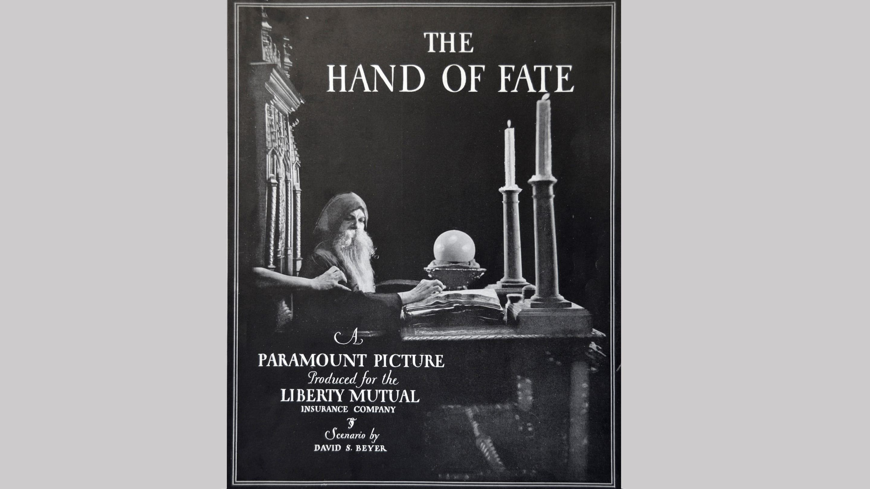 "(slide 3 of 12) Film cover from 1920 film ""The Hand of Fate"" - a film about workplace safety ."