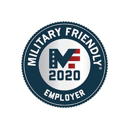2020 Military Friendly Employer logo